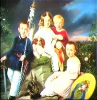 familien von w.'s born, gebhard, margarethe, adolphine samt deres storebror by gustav forster