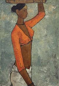 fisherwoman by b. prabha