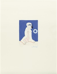 figur mit ringscheibe by horst antes