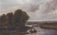 on the canal near birmingham by ferdinand franz hoepfner