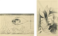 surreal compositions (pair) by wilhelm freddie