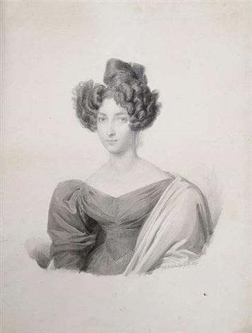 portrait der marie elisabeth franziska von bulmerincq geboren freiin von münch bellinghausen im alter von 25 jahren by franz xaver winterhalter