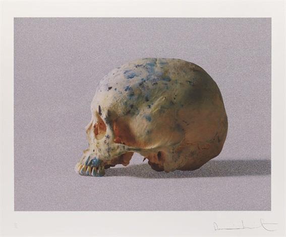 studio half skull half face by damien hirst