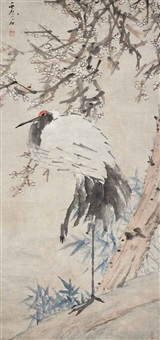 plum blossom and crane by xu gu