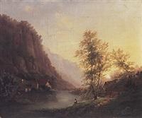 landschaft in den voralpen by robert schultze
