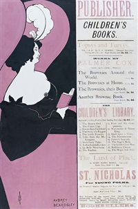 publisher / children's books (poster) by aubrey vincent beardsley