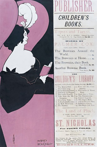 publisher childrens books poster by aubrey vincent beardsley