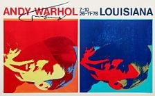 Double self portrait exhibition poster by Andy Warhol on artnet