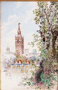 view from cartuja park- seville by ramón alorda pérez