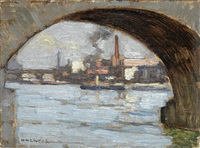 thames bridges by horace mann livens