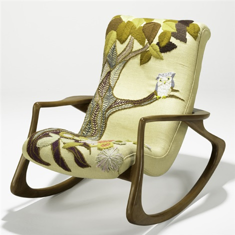 Rocking Chair By Vladimir Kagan And Erica Wilson