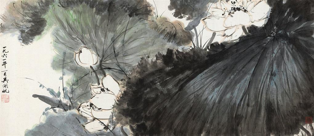 荷香清远 lotus by wu hufan