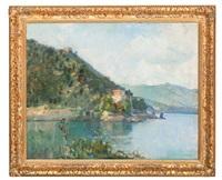 italian coastal scene by oliver dennett grover
