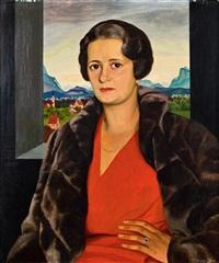 porträt der frau paula von schlözer by herbert reyl-hanisch