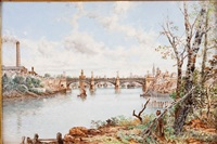 view of the harbor from cartuja park seville by ramón alorda pérez