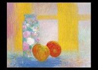 le vase et les deux pommes by claude manoukian