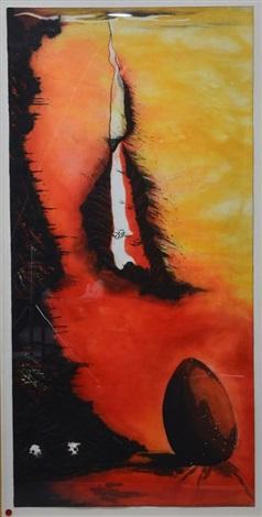 la lupa di roma triptych by enzo cucchi