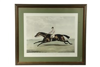 conolly on coronation, winner of the derby stakes at epsom, 1841 (engraved by j.r. mckrell) by francis calcraft turner