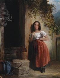 young girl by thomas faed