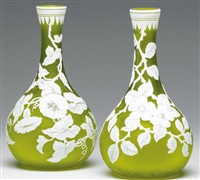 cameo vase (2 works) by thomas webb