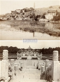 views of old peking (8 works) by yamamoto sanshichirou