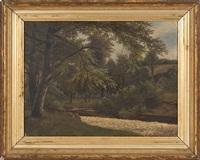 a forest stream by albert bierstadt