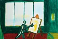 uomo che dipinge by virgilio guidi