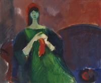 kvinne i interiør by thorstein rittun