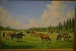 the mares berganza, sweet sauce, orarca, aureoletta, alcarelle, tratarelle, relza and dorabella and their foals by roy miller
