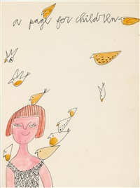 a page for children - birds by andy warhol