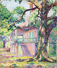 plantation house porch by anne wells munger