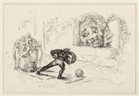 der königssohn, der sich vor nichts fürchtet (portfolio of 19, incl, title pg for fairy tale by the bros. grimm, various sizes, w/colophon) by max slevogt