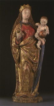 gotische madonna mit kind by austrian school (15)