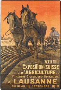 viiième / exposition-suisse / ..d'agriculture.. / à lausanne / du 10 au 19 septembre 1910 (poster) by m. de rham