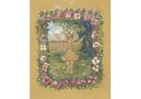 la fille entoure de fleurs by pierre laprade