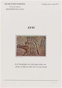 avis (aus: six lettres ouvertes) by marcel broodthaers