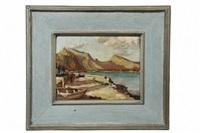 spanish coastal scene by max kuehne