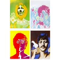 beatles posters (set of 4) by richard avedon