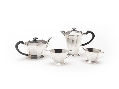tea and coffee service set of 4 by al davenport