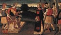 der heilige laurentius wird valerianus vorgeführt by giacomo pacchiarotti