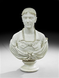bust of a woman by randolph john rogers