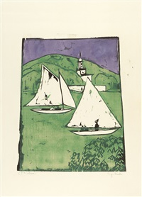 müggelsee by ernst ludwig kirchner