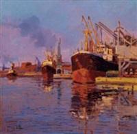 porto di livorno, il mandraccio by angiolo volpe