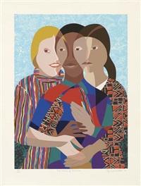 three women of america by elizabeth catlett
