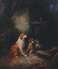 three spaniels by george armfield