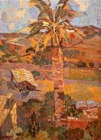 südländische landschaft, die von einer palme dominiert wird by eric isenburger
