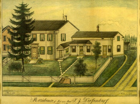 residence of mr and mrs pj diefendorf canajoharie ny by fritz g vogt