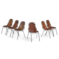 chairs from les arcs ski resort (set of 6) by charlotte perriand
