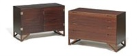 a mahogany cabinet and a chest of drawers by svend langkilde