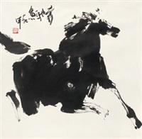 奔驰急 镜心 纸本 by jia haoyi